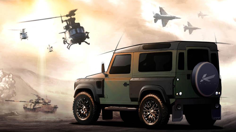 kahn design militarise le land rover defender. Black Bedroom Furniture Sets. Home Design Ideas