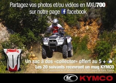 Jeu concours: Kymco offre des goodies à ceux qui roulent en MXU700