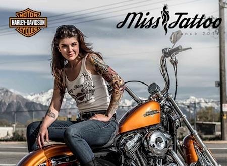 Harley-Davidson partenaire de la première élection de Miss Tattoo