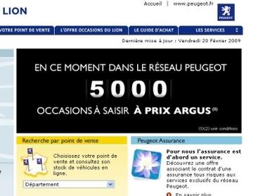 5 000 occasions du lion à prix Argus : Peugeot déstocke !