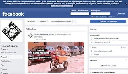 Tucano Urbano ouvre sa page Facebook française