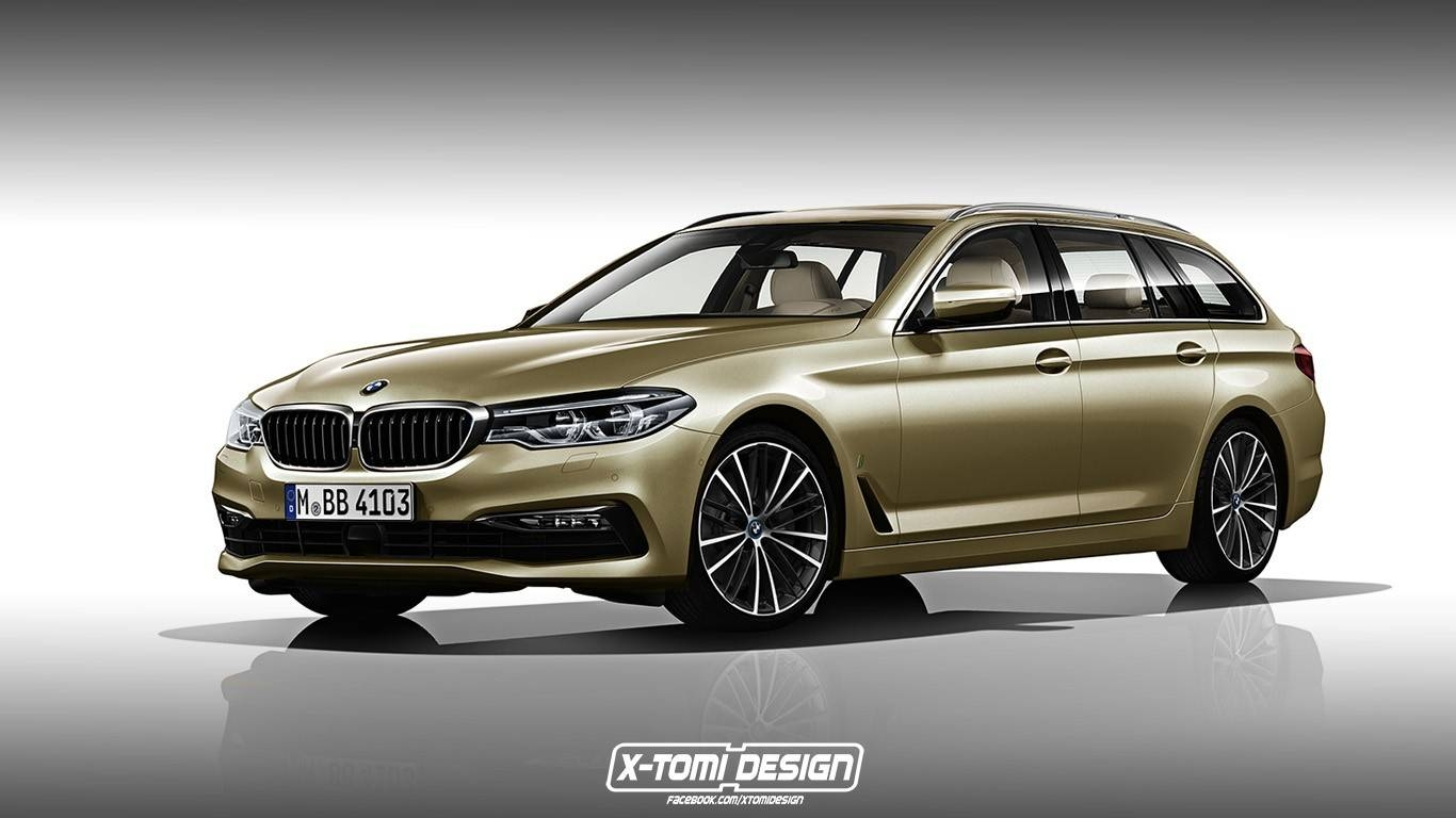 design deux graphistes imaginent la bmw s rie 5 en break touring. Black Bedroom Furniture Sets. Home Design Ideas