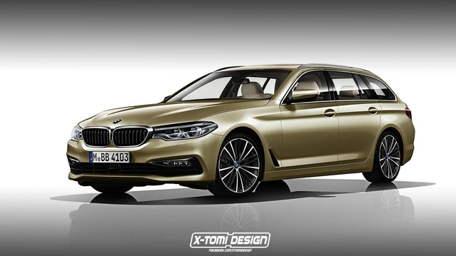 Design : deux graphistes imaginent la BMW Série 5 en break Touring