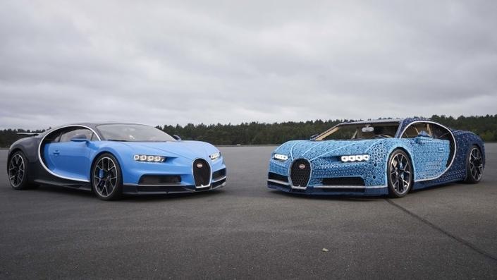La Bugatti Chiron revue selon Legoà l'échelle 1 : et elle roule! (vidéo)