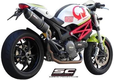 SC Project offre une ligne complete 2-1 à la Ducati Monster 796