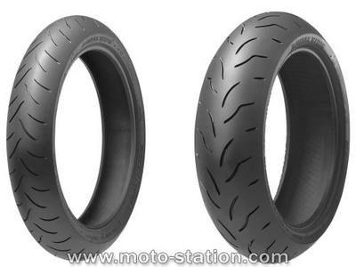 Bridgestone BT016 : Le premier pneu trigomme