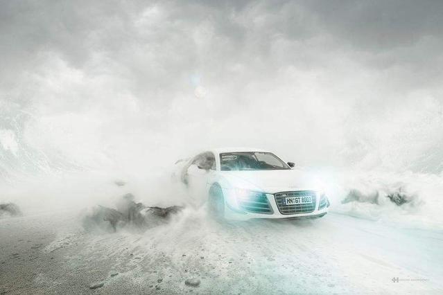 Insolite : il réalise des photos de l'Audi R8 avec une miniature