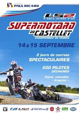 Le Castellet se met au Supermotard ce week-end (14 et 15 septembre 2013). Vidéo