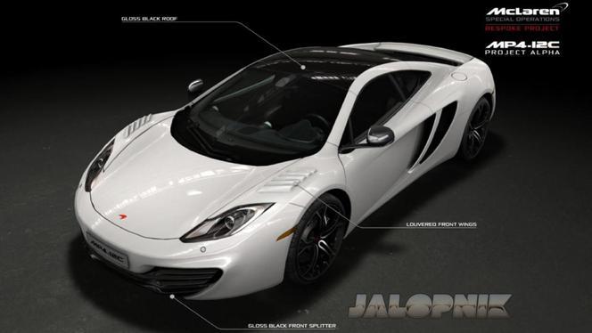 McLaren MP4-12C Project Alpha: 6 ex. uniquement