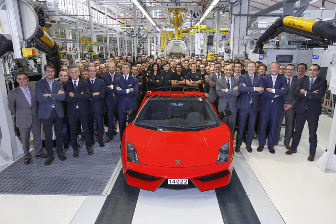 La dernière Lamborghini Gallardo est sortie de chaîne