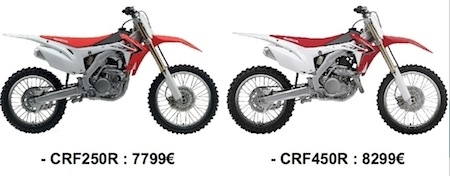 Honda assurance ses cross contre le vol!