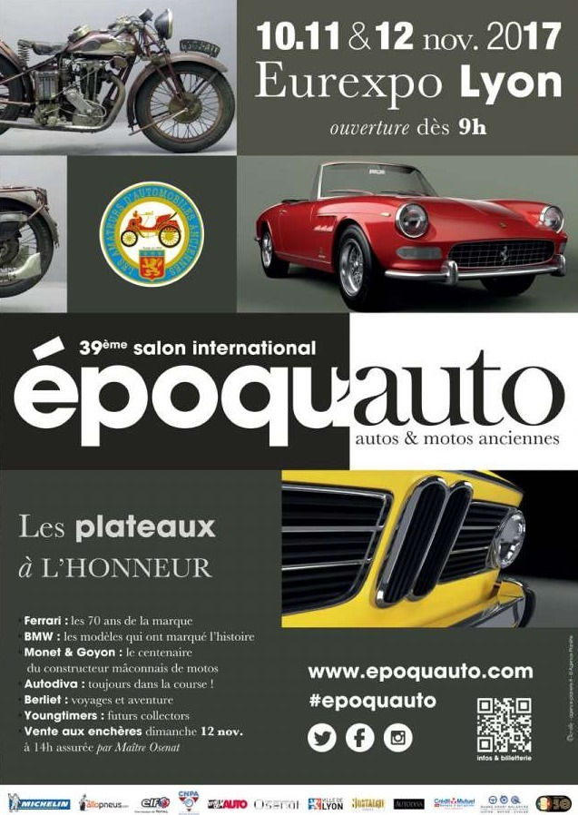 epoqu 39 auto 2017 le salon de la voiture ancienne revient lyon. Black Bedroom Furniture Sets. Home Design Ideas