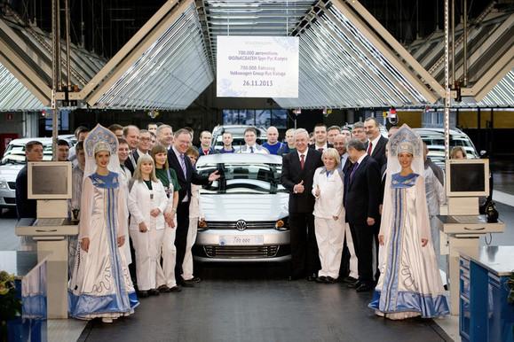 Volkswagen a déjà produit 700 000 voitures en Russie