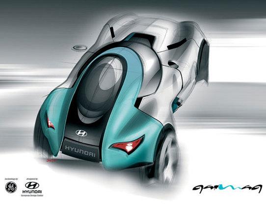 Hyundai et GE Plastics :  le concept-car QarmaQ  a un karma écolo !