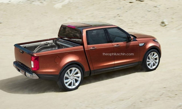 Design : le Land Rover Discovery imaginé en pick-up