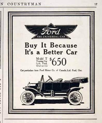 Aux origines de la pub : simple comme une Ford T !