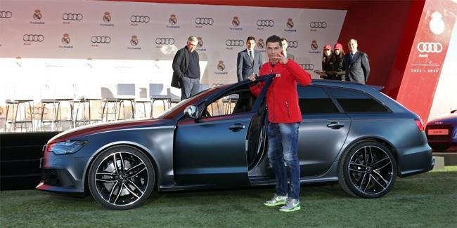 Les joueurs du Real Madrid reçoivent leurs Audi. Qui a la RS6 ?
