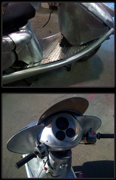 Un vieux scooter refait à neuf (ou presque), quel boulot!