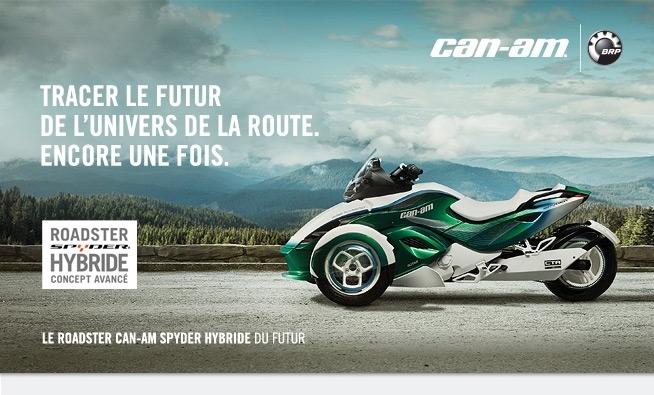 Le Can-Am Spyder Hybride Concept sera à Genève...