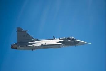 L'avion de chasse de Saab, le Gripen.