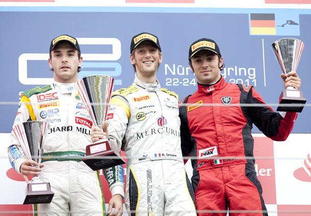 GP2 Nürburgring Courses 1 & 2 : Filippi mate les Français puis Grosjean au talent