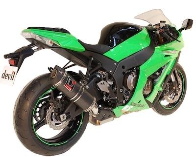 Devil: un Rocket avec ou sans catalyseur pour la Kawasaki ZX10R (2011).