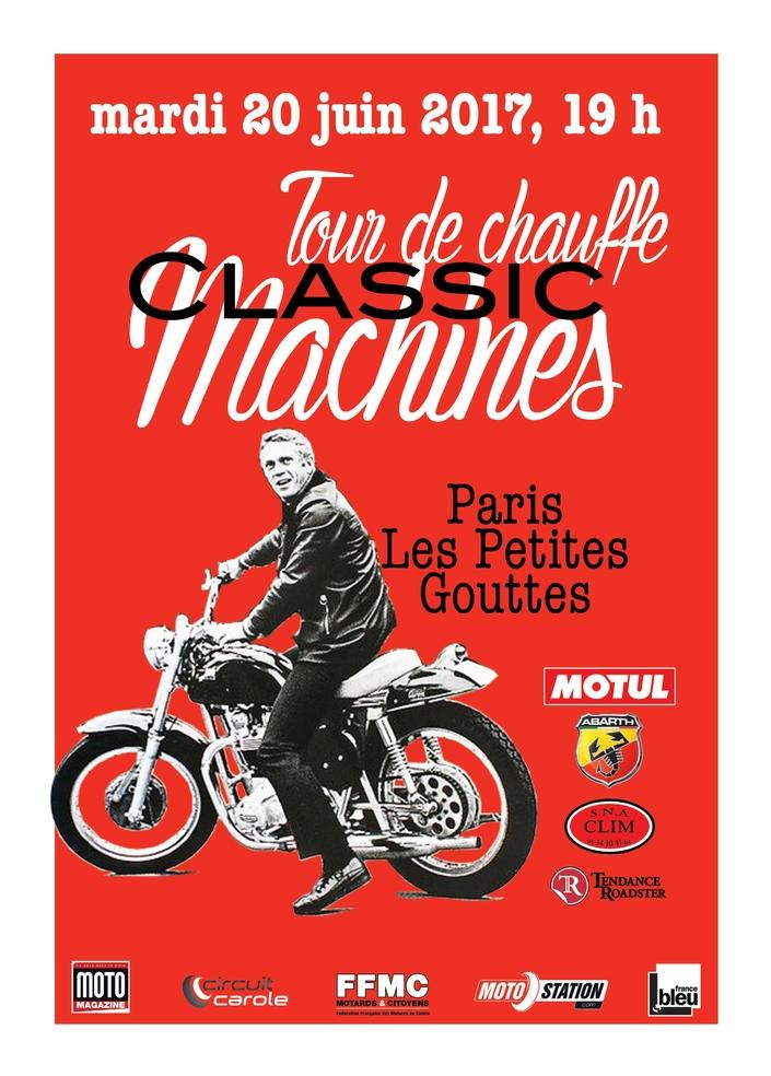 Tour de Chauffe Classic Machines 2017: c'est ce soir!