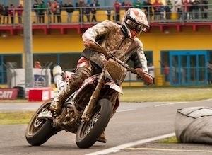 Supermotard, championnat du monde 2012: premier GP difficile pour Adrien Chareyre (interview)
