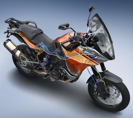 Nouveauté 2014, KTM: du MSC pour les 1190 Adventure et Adventure R