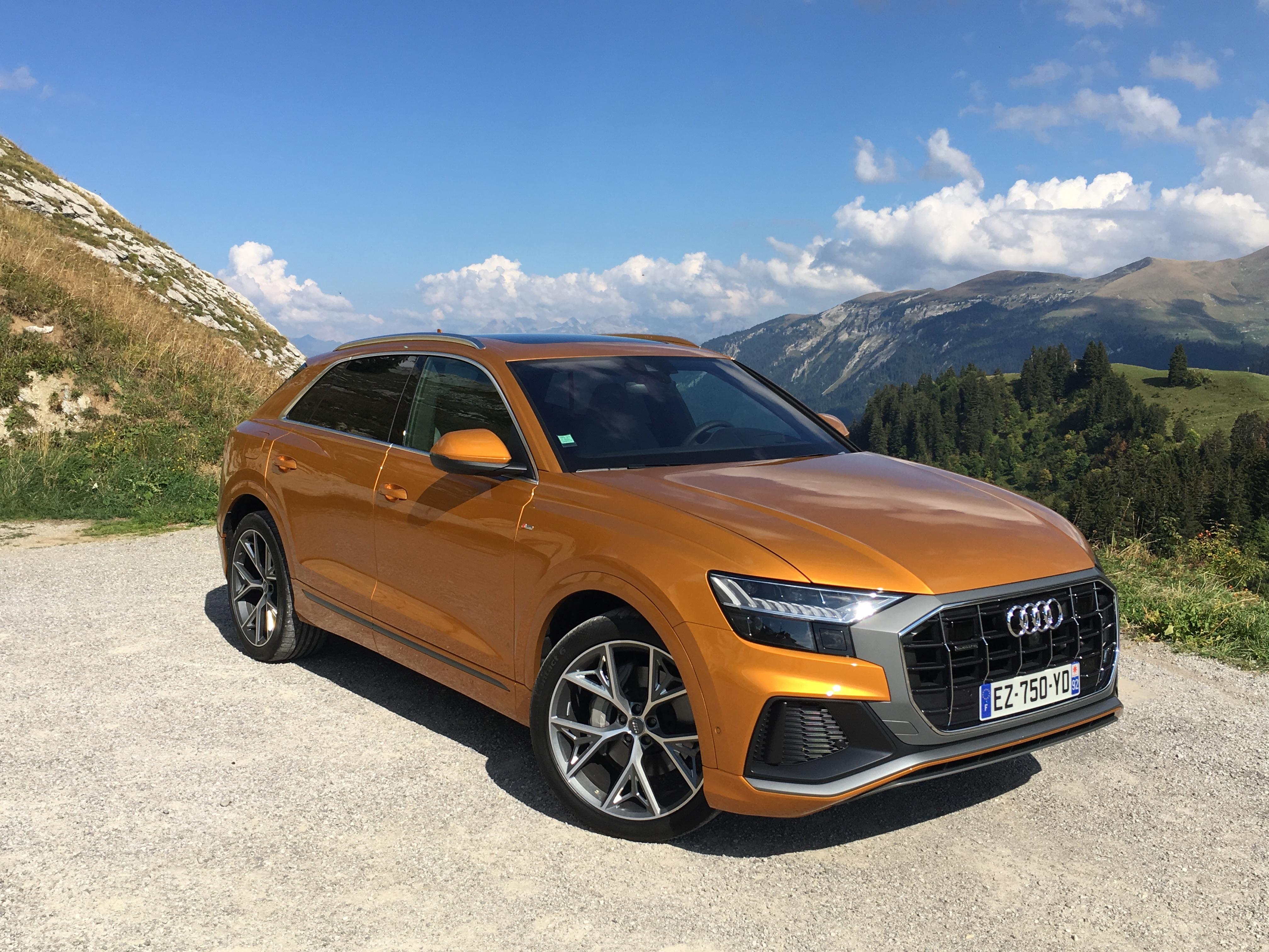 Audi q8 les premières images de lessai en live impressions de conduite