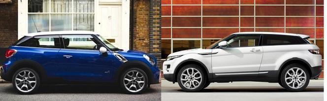Match du Mondial : Mini Paceman ou Range Rover Evoque Coupé ?