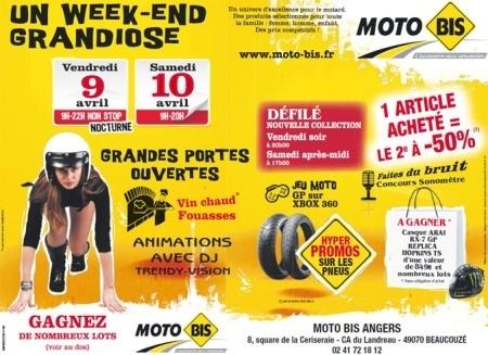 Portes ouvertes chez Moto-Bis les 9 et 10 avril 2010.