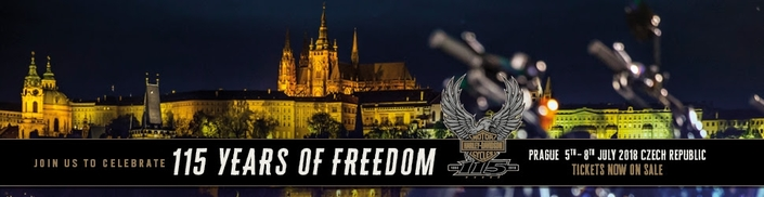 Harley-Davidson fête ses 115 ans à Prague: rendez-vous en juillet 2018