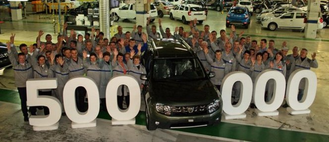 L'usine roumaine de Dacia fête ses 500 000 Duster