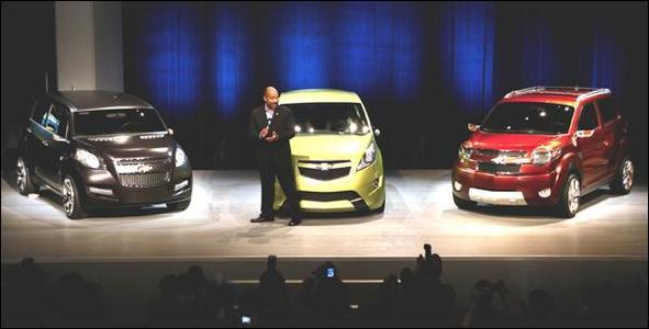 General Motors :  trois mini-voitures concepts ont tout d'une grande