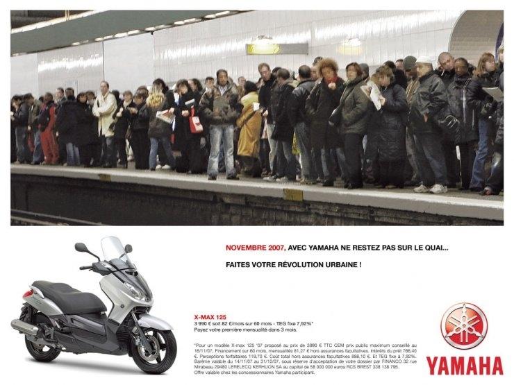 Yamaha : Ne restez pas sur le quai!