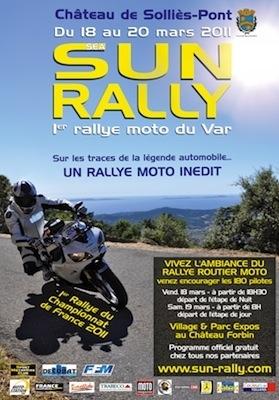 Sun Rally: ouverture du Championnat de France des Rallyes Routiers les 18 et 19 mars 2011.