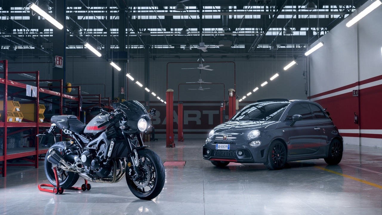 abarth une 695 tributo xsr en hommage la moto d velopp e conjointement avec yamaha. Black Bedroom Furniture Sets. Home Design Ideas
