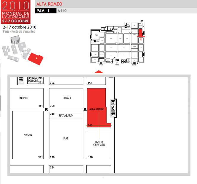 Guide des stands 2010 : Alfa Roméo, les nouveautés sont sous le capot