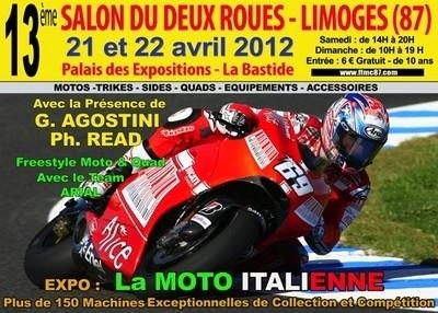 Salon de la Moto à Limoges: c'est ce week-end avec Ago et Read accompagnés de belles italiennes...