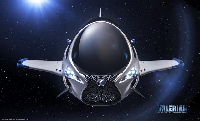 Lexus dessine levaisseau spatial de Valérian, nouvelle superproduction de Luc Besson