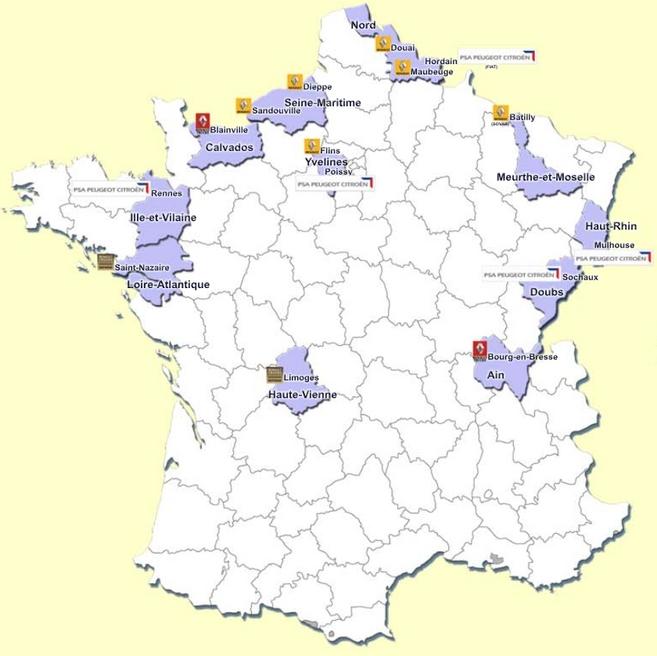 Chiffres 2014 : PSA produit 1/3 de ses modèles en France, le groupe Renault 1/5
