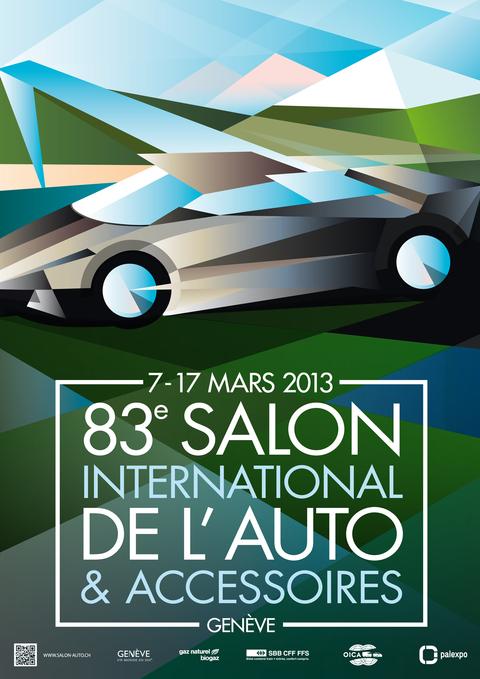 Salon de Genève 2013: le temps de l'affiche