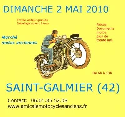 Marché de la moto de St Galmier (42) : plutôt deux fois qu'une…