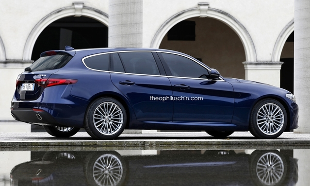 Design : un graphiste imagine l'Alfa Romeo Giulia en break