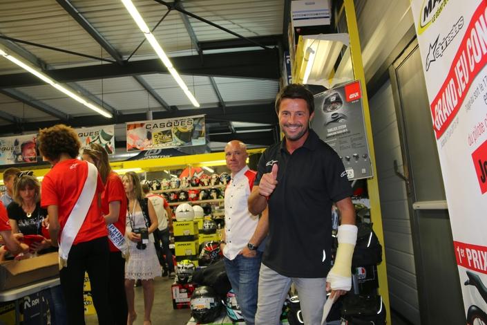 Lorenzo en visite chez Maxxess Limoges pour Alpinestars: on y était...