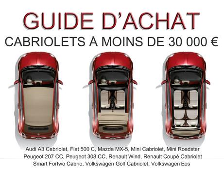 Guide d'achat : les cabriolets à moins de 30 000 €