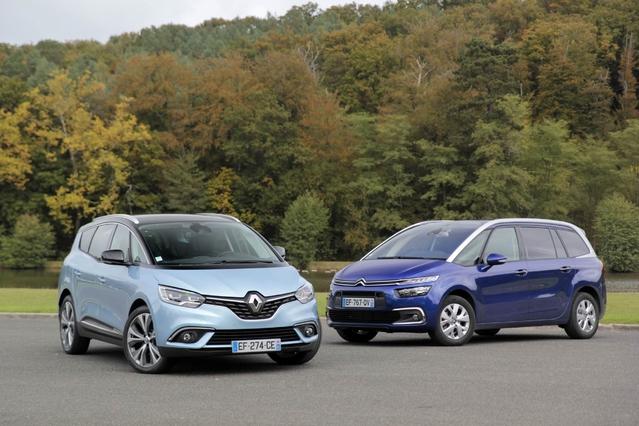 Comparatif vidéo - Renault Grand Scénic vs Citroën Grand C4 Picasso 2016 : les frenchies