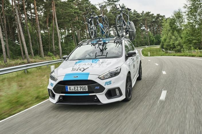 Une Ford Focus RS prête pour le Tour de France