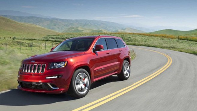Guide des stands Mondial 2012 : le Grand Cherokee en version SRT8 chez Jeep